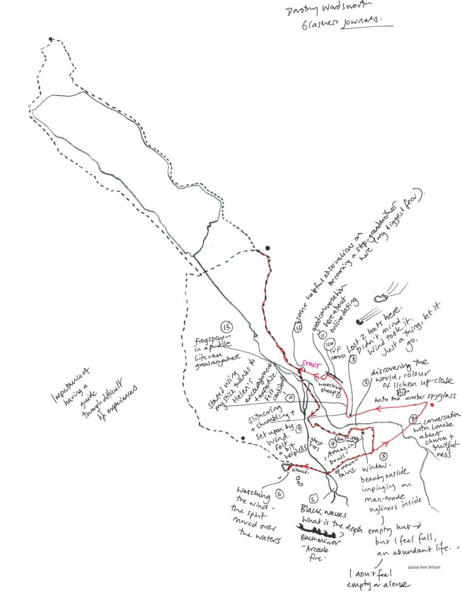 Warnscale, Mapping-walk map.